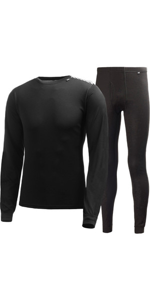 2018 Helly Hansen COMFORT DRY 2-PACK Base Layer BLACK 48676