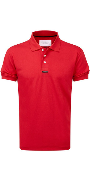 2019 Henri Lloyd Fast Dri Silver Plain Polo Red Y30282