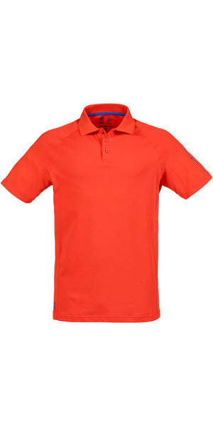 Musto Evolution Sunblock Short Sleeved Polo Top FIRE ORANGE SE0264