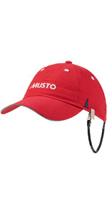 2018 Musto Fast Dry Crew Cap in RED AL1390