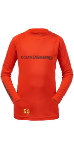 Musto Junior Insignia Dinghy Long Sleeve T-Shirt FIRE ORANGE KS007J0