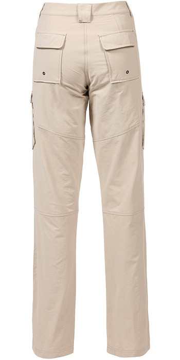 Musto Womens Essential UV Fast Dry Sailing Trouser Light Stone LONG LEG (85cm) SE1561
