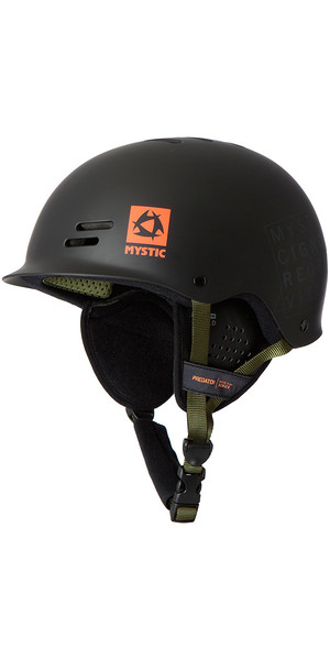Mystic Predator Multisport Helmet with Earpads -  Black / Orange Logo 140200