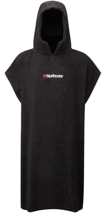2021 Northcore Beach Basha Change Robe / Poncho BLACK NOCO24A