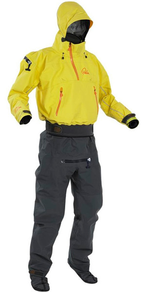 2018 Palm Mens Bora Touring Kayak Drysuit Yellow 11739