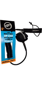 Prolimit Coiled Double Swivel SUP Leash Black 6ft 00595