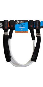 2019 Prolimit WC Harness Lines Vario Buckle - White / Black 22-28 76065