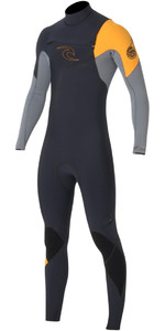 Rip Curl E-Bomb 3/2mm GBS Chest Zip Wetsuit SLATE WSM5AE