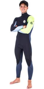 Rip Curl Flashbomb 4/3mm Zip Free Wetsuit FLURO LEMON WSM6SF