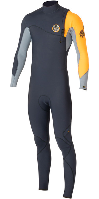 Rip Curl Flashbomb 4/3mm Zip Free Wetsuit Slate Wsm5sf Picture