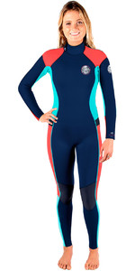 Rip Curl Womens Dawn Patrol 5/3mm GBS Back Zip Wetsuit NAVY WSM6EW