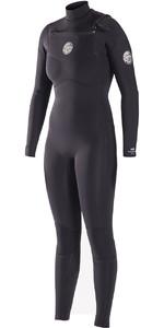Rip Curl Womens Dawn Patrol 4/3mm GBS Chest Zip Wetsuit BLACK WSM6JW