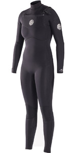 Rip Curl Womens Dawn Patrol 5/3mm GBS Chest Zip Wetsuit BLACK WSM6IW
