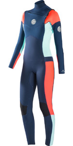 Rip Curl Womens Dawn Patrol 5/3mm GBS Chest Zip Wetsuit NAVY WSM6IW