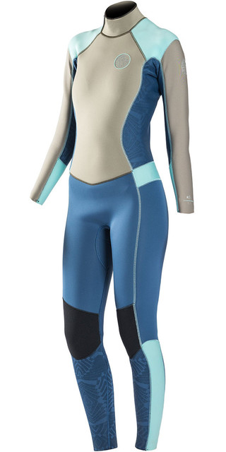 Rip Curl Womens Dawn Patrol 4/3mm Gbs Back Zip Wetsuit Blue Wsm6fw Picture