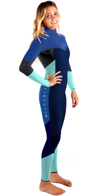 Rip Curl Womens Flashbomb 3/2mm Chest Zip Wetsuit Navy Wsm6eg Picture