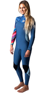 Rip Curl Womens G-Bomb 4/3mm GBS Zip-free Wetsuit BLUE WSM6IG