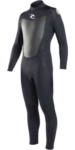 2018 Rip Curl Omega 3/2mm GBS Back Zip Wetsuit BLACK WSM6LM