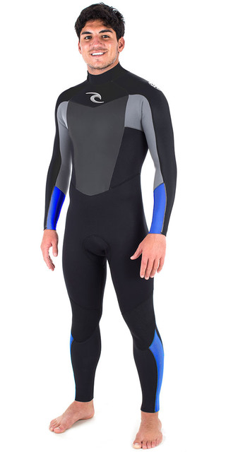 2018 Rip Curl Omega 3/2mm Gbs Back Zip Wetsuit Blue Wsm6lm Picture