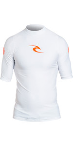 2019 Rip Curl Corpo Short Sleeve UV Tee Rash Vest White WLE4KM