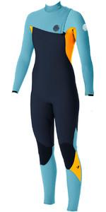 Rip Curl Womens G-Bomb 4/3mm GBS Zip-free Wetsuit SLATE / ORANGE WSM5IG