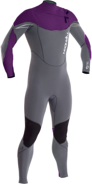 dcea2d121360 2019 Typhoon TX2 5 4 3mm Chest Zip Wetsuit MULBERRY   GREY 250632 Typhoon