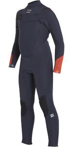2018 Billabong Boys Absolute Comp 5/4mm Chest Zip Wetsuit SLATE BLUE F45B13