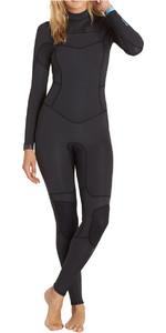 Billabong Teen Girls 4/3mm Synergy Chest Zip Wetsuit BLACK SANDS F44B15