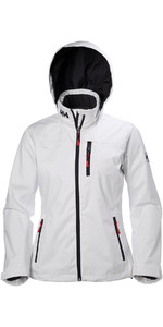 2019 Helly Hansen Womens Hooded Crew Mid Layer Jacket White 33891