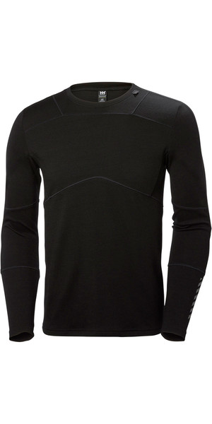 2018 Helly Hansen Lifa Merino Crew Top BLACK 48316