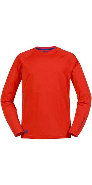 Musto Evolution Sunblock Long Sleeve T-Shirt FIRE ORANGE SE1550