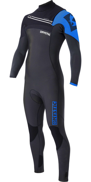 Mystic Majestic 5/3mm GBS Chest Zip Wetsuit - Black / Blue 170010