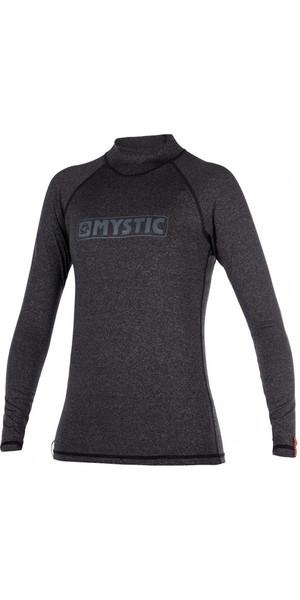 2018 Mystic Star Womens long Sleeve Rash Vest BLACK 170345
