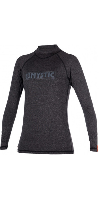 Mystic Star Womens long Sleeve Rash Vest BLACK 170345