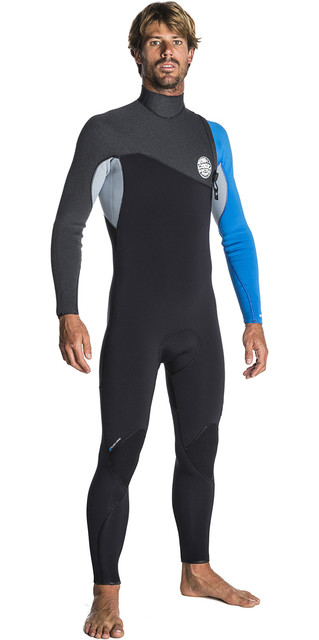 2018 Rip Curl Flashbomb 3/2mm Zip Free Wetsuit Blue Wsm7rf Picture