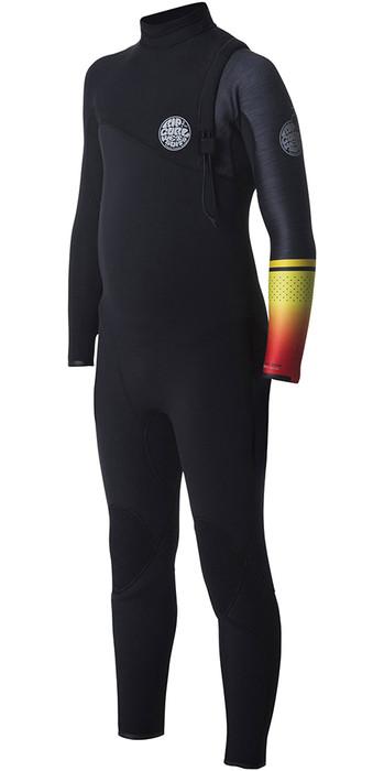 Rip Curl Junior Flashbomb 3/2mm Zip Free Wetsuit WSM7OS - Orange