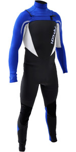 2018 Typhoon Junior Boys TX2 3/2mm Chest Zip Wetsuit ROYAL BLUE / WHITE 250901