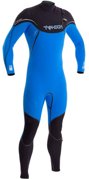 2018 Typhoon Kona 3/2mm GBS Chest Zip Wetsuit ELECTRIC BLUE 250701