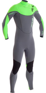 2019 Typhoon TX2 3/2mm Chest Zip Wetsuit FLO GREEN  250721