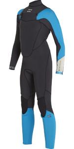 Billabong Boys Absolute Comp 4/3mm Chest Zip Wetsuit BLACK SANDS F44B13