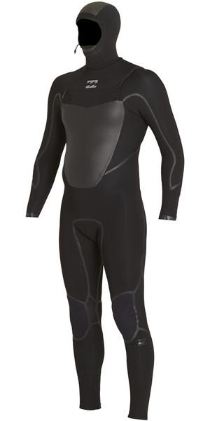 2018 Billabong Furnace Carbon X 6/5mm Hooded Chest Zip Wetsuit BLACK F46M13