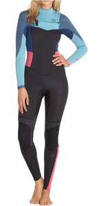 Billabong Teen Girls 3/2mm Synergy Chest Zip Wetsuit AGAVE F43B15