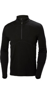 2019 Helly Hansen Lifa Merino Max Half Zip Top BLACK 48318