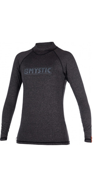 2018 Mystic Star Ladies long Sleeve Rash Vest BLACK 170345