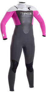 2019 Typhoon Womens TX2 3/2mm Chest Zip Wetsuit CLOUDBERRY 250821