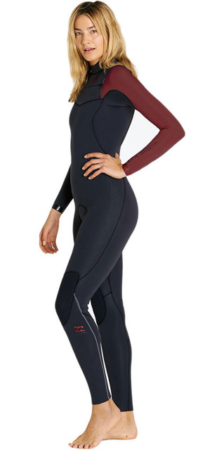 2018 Billabong Womens Furnace Carbon Comp 4/3mm C / Z Wetsuit Mulberry F44g10 Picture