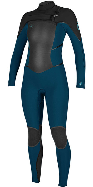 2018 O'Neill Womens Psycho Tech 5/4mm Chest Zip Wetsuit SLATE / BLACK 4989
