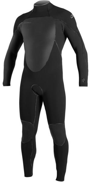 2018 O'Neill Psycho Freak 5/4mm Back Zip Wetsuit BLACK / Slate 4983