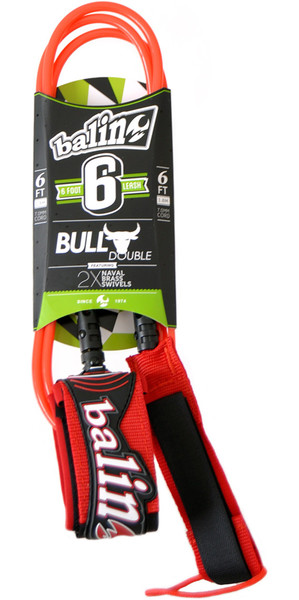 Balin Bull Series 7mm Double Swivel Leash Red - 6ft