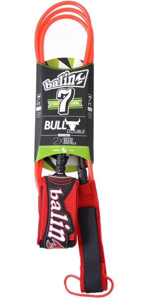 Balin Bull Series 7mm Double Swivel Leash Red - 7ft